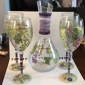 BlockBasics midcentury GrapeVine Glass & decanter